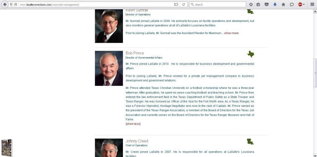 Bob Prince LaSalle Prison website 2015