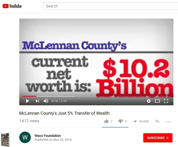 McLennan County Net Worth 11-2014 10.2 Billion dollars