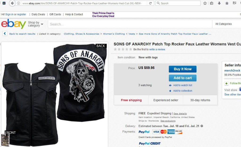SOA faux leather cut ebay