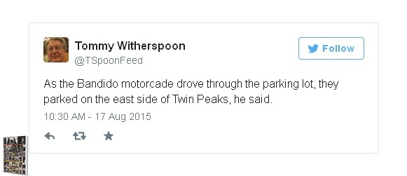 Motorcade driving through east side of Twin Peaks