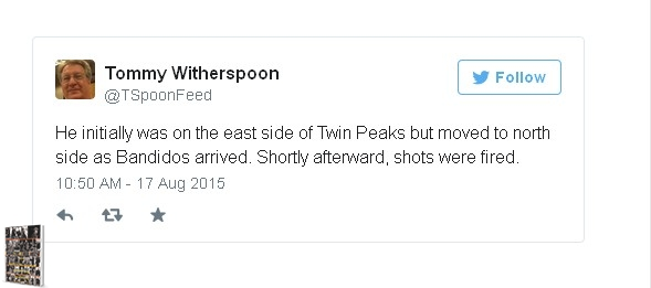 Lt. Schwartz was in position on the East Side of Twin Peaks, then moves North