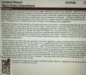 Jeremy Finch WPD Incident Report #3