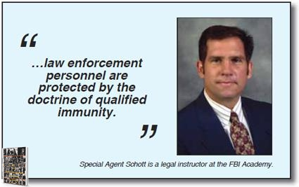 Image from the FBI's website discussing their teaching of the Qualified Immunity Doctrine in 2017.