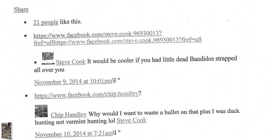 chip hundley duckhunting facebook 11 09 14 Steve Cook comment