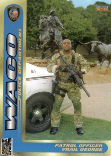 Waco Police Department Vrail George trading card